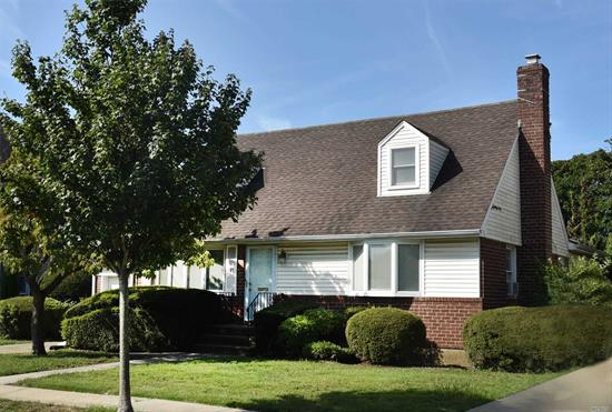 Sun Drenched Expanded Cape on quiet block in The Incorporated Village of Mineola. Exceptionally large E.I.K, Den, Office, Full Bath & Bedroom on 1st floor. 2nd floor has 2 Bedrooms and a Full Bath with additional storage space. Hardwood floors and spacious yard.