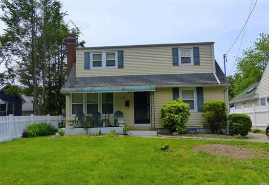 Great for commuters close proximity to Albertson LIRR Station. Come see this beautiful 4 bedroom 2 bath cape in Albertson with Mineola Schools. Enter into a Living Room with Hardwood Floors that flows into an Eat-In-Kitchen. Large Master Bedroom, Full Bath with tub and bedroom on the main floor. Upstairs has a full bath with tub and 2 large bedrooms. Lots of Storage. Beautiful Backyard. Long driveway & detached garage.