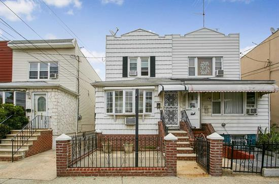 Nestled in the Canarsie area of Brooklyn sits this beautiful one family home waiting for the right buyer.  1ST floor has a large living and formal dining rooms kitchen and full bath. 2ND floor has 3 bedrooms lots of closet space and full bath. Finished basement and 2 car garage with a shared driveway. B-17, B103, B6, and B82 Buses can take you to the L, 4 & 5 Train.