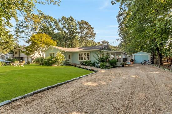 You will love this gem of a home in the heart of the North Fork nestled between Southhold and Town Beach and has Lamdmuck pond. The spacious sunroom and rear yard paradise will create lifetime memories. Stunning sunsets and canoeing on the pond await you. Come see today!
