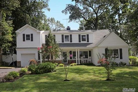 Merrick Woods Completely Renovated 5 Bedroom Colonial Boasts a Master Bedroom on the Main level. On the 2nd level a King Master w/Designer Bath & Huge WIC. 3 additional bedrooms w/FBTH! Designer EIK w/SS appliances, granite counters, double oven, LR w/FPL, HUGE Family Rm, Separate Doctors 4RM wing w/.5Bth and entrance on Merrick Ave.