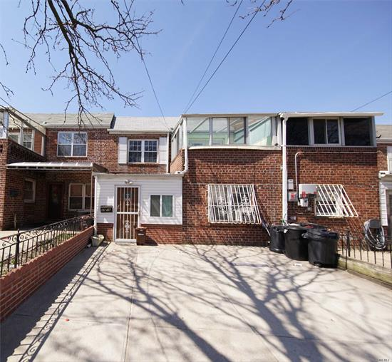 SOLID BRICK WHOLE HOUSE FOR RENT, 4 BEDROOM, 2.5 BATH, 2 PARKING SPACE AND Q65 IS ABOUT 10 MINUTES TO MAIN ST FLUSHING, VERY COZY BALCONY WITH A GLASS WINDOWS, IT IS FULL OF SUN LIGHTS, BEAUTIFUL CONDITION, TENANT PAYS ALL UTILITY.