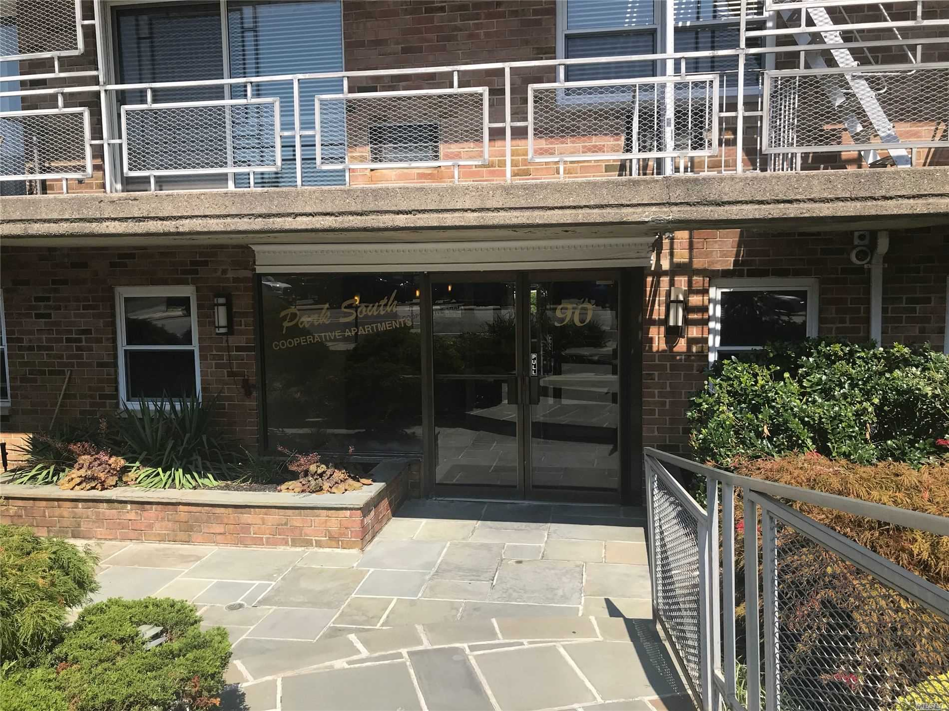 Large One Bedroom in Elevator Building W/Full Terrace, Updated Efficiency Kitchen with new stove, dishwasher, countertop. Large Master with walk in closet. Eating area, Large Living Area. Individual Thermostat in Unit. Rent Includes Parking Spot for 1, Heat, Water, Washer/Dryer Near Unit. Convenient To Dining/Bars, Gym/Yoga, SS Parkway, Assigned Parking. Only 35 minutes to Manhattan walk to LIRR.