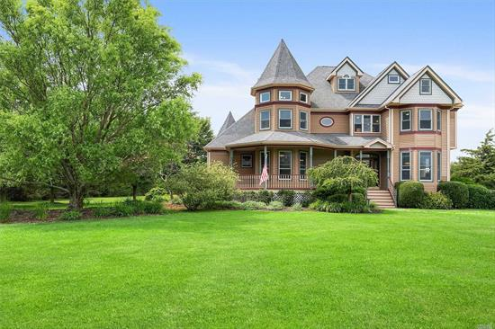 Beautiful turn key Victorian home situated on 5 acres of property. This home features 4 bedrooms, 3 full bathrooms, hardwood floors, radiant floors in the kitchen and two seconds floor bathrooms, CVAC, wood burning fire place, 3 sheds, a semi in-ground pool and a large attic. Located minutes to the wineries, train and north shore beaches.
