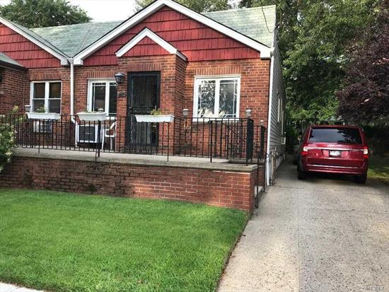 Rare Opportunity! Two Lots Selling As A Package Deal In Prime Location In Maspeth. Semi-Detached 1-Fam Brick Ranch Situated On 2, 900 SF Lot Featuring Living Room, Dining Area, Eat-In-Kitchen, Two Bedrooms, Two Full Baths, Full Finished Bsmt, Private Driveway With Adjacent Corner Vacant 3, 700 SF Irregular Buildable Lot. Lots Zoned R4 For Potential Multi-Family Expansion. Across Fr Frank Principe Park. Near Buses Q67 & Q18, Expwys, Shopping And Restaurants. Consult With Architect. Sold 'As-Is'.