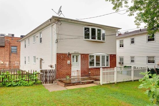 A Beautiful Detached, Corner, South Facing Legal 2 Family House, In School District 26. Separate Heating, Gas and electrical meters For each Unit. 4 parking spots, currently rented for $550/month, Separate entrance to Finished Basement. One Block away to Northern Blvd, Q12 To Flushing, Walking Distance to LIRR (Little Neck Station), Close to all Highways. Very Easy to rent.