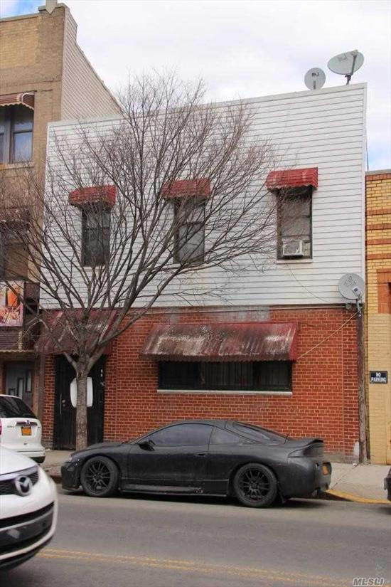 2 family home, 3 bedrooms each apt, pvt yard , full finished basement. Located approx. 8 blocks to M train and 4 blocks to L.