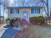 Beautifully renovated sun-filled Split in Selden! This home is on a big lot in a quiet neighborhood. It features 3 large bedrooms ad 3 bathrooms. Modern EIK w/SS appliances. High-hats all over, wooden floors. Central AC & Gad heat makes it ideal. Packed with all new features - roof, kitchen, bathrooms, HVAC, appliances, electrical, plumbing, floors. Relax in the den by the fireplace or entertain in the spacious rec room. Won't last!