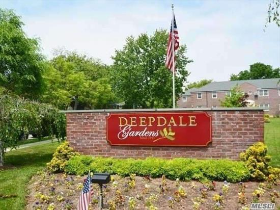 This well maintained first floor 1 bedroom is located within a beautiful courtyard setting in the highly sought out Deepdale Gardens Cooperative..Features kitchen w/washer/dryer. No Con Edision Bill~ Maintenance includes all utilities Express bus to city right outside your door.Close proximity to major highways.Well priced unit suitable to add your own personal finishing touches.