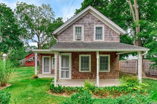 Unique property with 2 rentable residences...Main house has 3 bedrooms and 2 baths on Mill Road built 1910, and a Rustic Barnn (1915) with a great room, and dining area, kitchen, 2 bedrooms and bath. Three small sheds on the property with a secluded 20x40 heated gunite pool. Very convenient to WHB schools, Main Street Westhampton Beach, community tennis, beach, shopping, and restaurants. Great investment property with low taxes. C/O for multiple residences. Must see to appreciate.