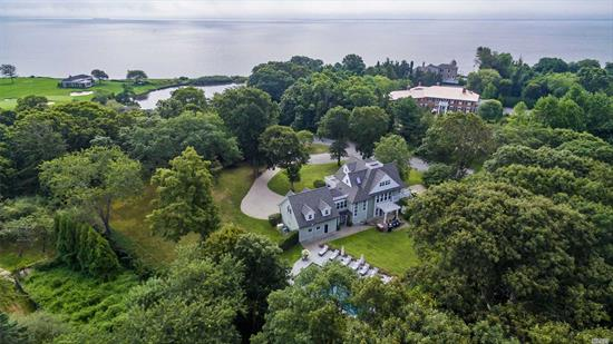 Enjoy stunning Bay views in charming Bellport Village. This upscale 5 Bed, 4.5 Bath 3, 000 SqFt home offers South Shore luxury on a quiet cul-de-sac & is perfect for family, entertaining or a hide-away. The home offers a gourmet kitchen w/granite, Sub Zero & Wolf appliances & 2 islands, beautiful spacious living areas, cac, hw flrs & radiant heat, master suite, 3 guest suites, TV room, 2-car garage, rear patio, heated pool, gorgeous park-like 1.26 acres, Village beach, country club & golf course.