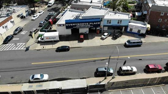Excellent Locale 4, 100 SF Auto Repair shop w/a 2nd floor 4 room apartment. All Leases expire Dec, 2019. Future market rent $120, 000 + per/yr . Over 230 Feet linear frontage. 10 car parking. Directly Behind the Pan Am Hotel and 1 Block to Queens Blvd. Walk 4 blocks to subway at Grand Ave. Near Mall, LIE and BQE. With lack of auto repair shops on the market, this will sell quick. Priced right. Please DO NOT BOTHER tenants without appointment.