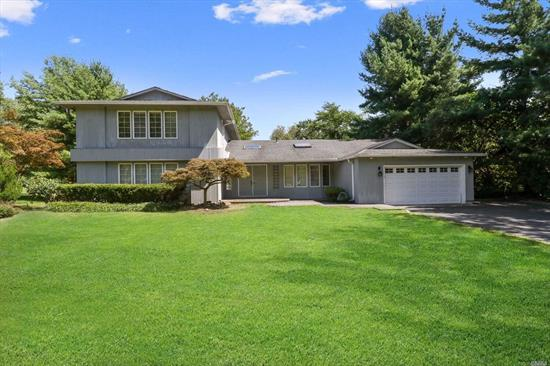 Location Location Location! Check out this large and lovely expanded ranch home! Sought-after Syosset schools. Tons of windows and light with unique architectural details that must be seen! Spacious 2-car garage and basement for ample storage. This is waiting for you to bring your personal touch and make it home of your dreams! Don't let this pass you by!