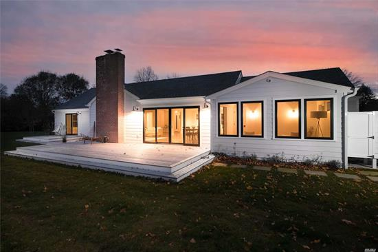 North Fork charm meets modern living in this newly renovated 3 bed 2 bath home built with an eye for design and uncompromising quality. Located on one of Southold's quietest streets yet just steps from downtown Southold's restaurants, shops and Jitney/LIRR to and from NYC/Brooklyn. The .76 acre property features an in-ground salt water pool, outdoor shower and extensive landscaping. Chef's kitchen with beautiful cabinetry and high-end Bertazzoni appliances. Turn-key, an absolute must see!
