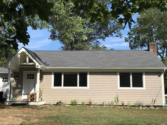 Main floor of 3 bedroom ranch close to Main St conveniences. Everything is new. The tenant has the use of a shared basement laundry,  the garage and the basement are not included. Owner is retaining the finished basement and garage for their own use.
