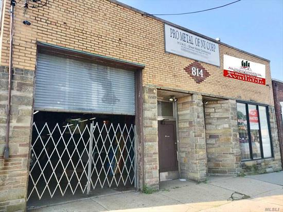 Calling All End-Users!!! Excellent 3, 500 Sqft. Warehouse/ Shop For Sale On The Border Of Queens And Nassau County!!! Building Was Completely Renovated In 2016! Property Features Excellent Signage, New Roof, New 12 Camera Surveillance System, All New Led Lighting, 3 Bathrooms, CAC, High 14' Ceilings, 12' X 10' Drive-In Door, New Alarm System, Rear Yard, New Office With Large Executive Office, +++!!! This Property Is Currently Home To A Successful Sheet Metal Company.