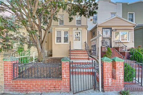 Great opportunity to be in this family-friendly neighborhood. Quiet 3 stories row-houses block. Hardwood fls throughout. 1st Fl: A nice ample Foyer welcomes & leads you to a nice-size Living Rm, Formal Dining Rm, EIKitchen and access to backyard. 2nd FL: 3 Bedrms & a Full Bath. Bsmnt has separate entrance on the back. Full, semi-finished and open layout .5 Bath. 1-car garage. Close to a variety of establishment, schools, parks, houses of worship & to major neighborhood centers & thoroughfares.