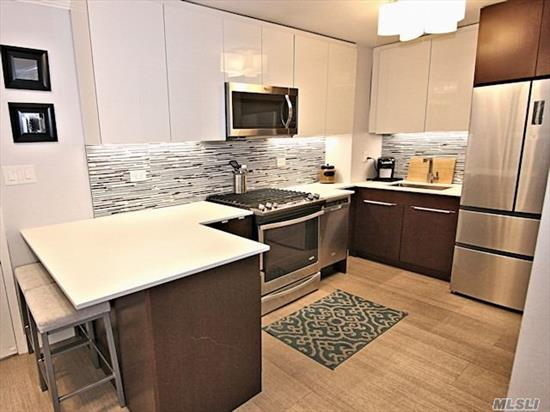 Renovated Open Kitchen, Bath, Living/Din.Room, Bedroom, Spectacular Views Of The Bridges, The Bay & The Manhattan Skyline. 24Hr.Doorman/Security.State Of Art Gym.Shopping Arcade W/ Restaurant/Deli/Grocery Store. Beauty Spa, Pool, Gym & Tennis.Close To All Shopping And Transportation. Total Maint. $1, 133.64 Including Taxes. Garage Xtra