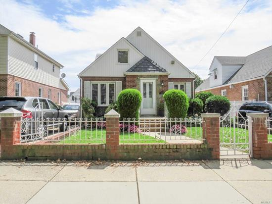 Very well maintained house, move in condition, post card picture back yard in the heart of Bayside. Short Travel to Lirr and town. House dimensions are 25 x 45 and boasts with large living quarters as well as bedrooms and a full bathroom on every floor. School district 26 and in highly coveted area of bayside.