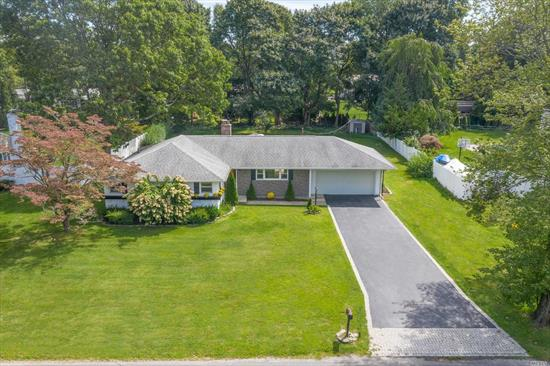 Charming Northport Village Ranch. Features Very Large Flat Yard, All New Eik w/ Granite Counter Tops and Stainless Steel Appliances, Master w/ New Full Bath, 2 Bedrooms, New Full Bath, Dining Room, Living Room w/ Fireplace, CAC, 2 Car Garage, Beach Rights. Close to All. A Must See!