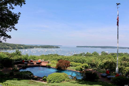 A Private Hidden Gem Nestled in the Heart of Northport Village. Panoramic and unobstructed views of Northport Harbor, Bay , and Long Island Sound. There are no words suitable to describe this home. It's a jaw dropper. New Attractive Price. Call for private tour!