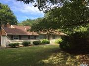 Excellent++ This is a very Large Sprawling Ranch On Half Acre. Very spacious open floor plan Ranch.Den With Fireplace. Cac, Eik, Formal Dr, Lr, Master Suite W/ Bath. Rooms Are Very Large.