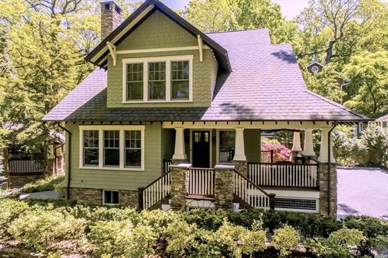 Stunning 10 year young craftsman style custom colonial. Built with quality and attention to every detail including a rooftop gazebo over 2 car garage and wrap around porch. Perfectly situated into the Sea Cliff landscape and conveniently located to beach and town. This home offers character and charm that is not often found in newer constructions. North Shore SD