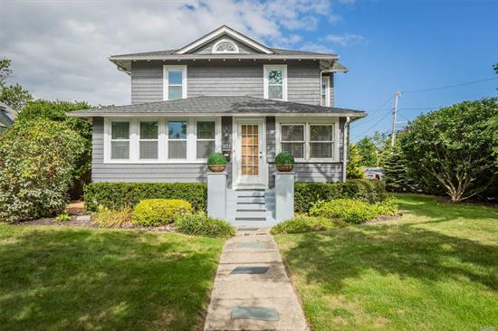 This Warm & Inviting 3 Bed, 2 Bath South Sayville Colonial Offers An Enclosed Porch, Spacious Living Room, Formal Dining Room, Kitchen w/Corian Counters & SS Appliances, Sitting Room, Laundry, Huge Costco Closet, Rear Mud Room, Fireplace, HW Floors Up & Down, Cast Iron Baseboard Radiators, Office, Plenty Of Closets, 25 New Windows (2019), Updated Roof (2012), Rear Deck & Taxes Of Only $9, 172.01 After Star...Come Take A Look