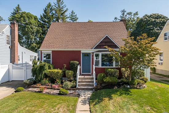 3 bed 2 bath move in ready cape with a finished basement  beautiful 2 outdoor enclosed sun rm Hot tub , steam shower all new windows with 4 ductless units with many more updates ! beautiful landscaping  centrally located close to shopping and the train