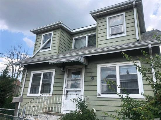 Detached Single Family Cape Located In The Inwood Section of Nassau County. Property Features Full/Unfinished Basement, Living Room, Dining Room, Kitchen, Three Bedrooms, And One Full Bathroom.