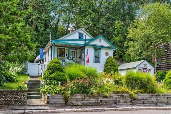 Cozy Northport Village ranch/cottage with low taxes! Close to Main Street, many wonderful restaurants, great shops, Crab Meadow beach and golf course! Super starter, downsize or investment or second home!!  Gas cooking and heat! Charming front porch! Private back yard! Come look!!
