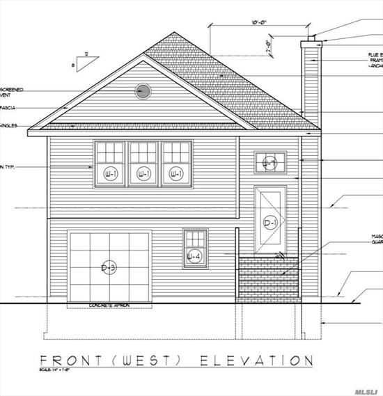 NEW CONSTRUCTION  Land cleared foundation starting.To Be Built, approximately 2500 sq ft. new construction on .17 acre property. Hi Ranch with 4 bedrooms and 3 baths. Plans available for review. S. Huntington Sd #13.