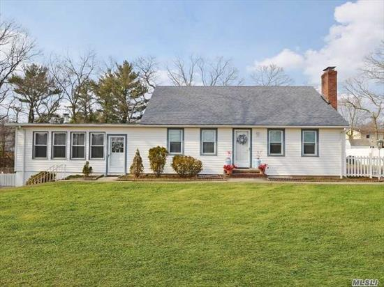 Beautiful 3 Bedroom Expanded Cape Located on .57 Acres Will Feel Like Home The Moment You Walk Inside. Features Large Family Room With Wood Burning Stove, Renovated Full Bathroom, Living Room With Wood Burning Fireplace, Large Fenced In Yard And Low Taxes! The Perfect Place To Call Home!