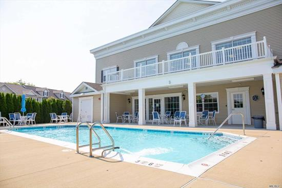 FIRST FLOOR 55 AND OVER ADULT COMMUNITY. Washer and Dryer in the unit. Central Air and Heat. Open floor plan with stainless steel appliances. Front Porch and Back Patio for a BBQ. The clubhouse has all thats needed with an IG Pool, Gym, Library, Billiards and more.