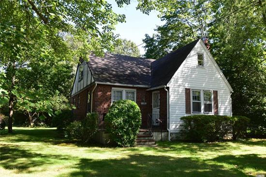 PRIME WANTAGH WOODS Location , SD#23, Beech street school, House being sold 'as is' any and all appliances as is also, NESTLED amongst TALL TREES on picturesque grounds 80 x 125, wood burning fireplace livingroom, 4 bedrooms, 2 baths, full basement, , home has gas in house, disconnected by National Grid.