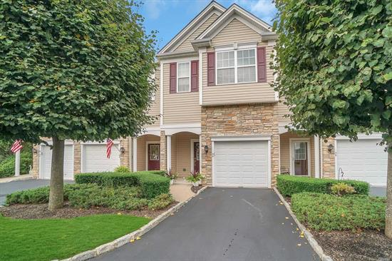 move in ready and immaculate townhouse, bright and open, 55 and over, Elevator to all floors, finished basement, great location, community pool and club house, 2 master suites w/walk in closets, open kitchen/living with slider to a lg deck, 1 car garage, washer/dryer on bedroom level,