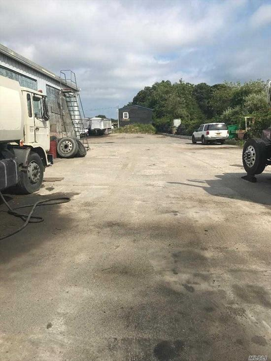 Warehouse industrial space, with outdoor storage yard with steel working stations. Industrial space is equipped with 400 amps 3 phase electric service to meet your daily operations. This property will not last! A must see!!