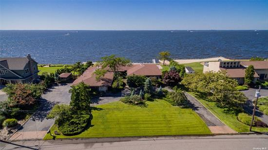 Location, location, location ! Sprawling Bayfront Ranch In The Moorings Approx 4000 Sq Ft Ranch W/ New Bulkhead & Jet Ski Lift. New In Ground Pool. Located In Luxury Gated Community, With Tennis And Marina. Beautifully Maintained With Views, Views, Views...Situated On The Great South Bay.