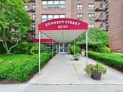 Spacious 2 Bedroom upper unit. Freshly painted. Features King Sized MBR & large 2nd BR, closets galore, large livingroom & dining area. CAC & heat inc in maint. no flip tax. Parking space, loc near Bay Terrace shopping center, highways & express bus to NYC.