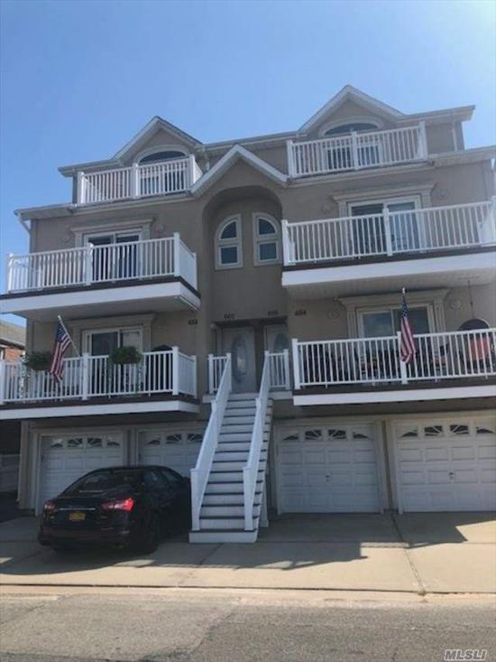 GORGEOUS 2 STORY CONDO CLOSE TO THE BEACH AND BOARDWALK FEATURES AN OPEN FLOOR PLAN, A MASTERSUITE WITH FULL BATH W/ JACUZZI, 2 MORE BEDROOMS, FULL BATH, LR W/ FIREPLACE, DR , EIK, FULL BATH, AND 1 CAR GARAGE!