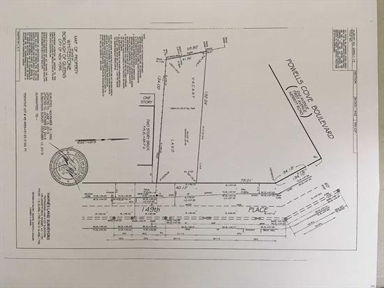 Builder's delight.  Premium large lot (11, 280 sq ft) located in prestigious neighborhood of Beechhurst. Can be built with 2 luxury homes with unobstructed water and bridge view. Rare to find.