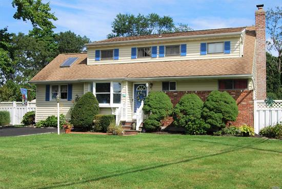 Lovely Farm Ranch Located In The Beautiful Hamlet Of St. James On A Quiet Tree Line Street. Custom Interior Boast Updated Kitchen W/ New SS Appliances, Large Formal Dining Rm W/ A Fireplace and Sliding Glass Doors To A Private Deck. Master Bedroom On The 2nd Floor W/ Full Bath. Wood Floors Throughout, Recently Remodeled Oak Staircase and New Driveway. Large Finished Basement For All Your Entertaining Needs!