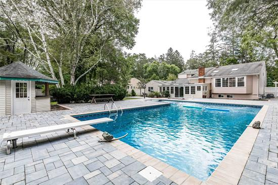 This magnificently maintained Splanch, in the award winning Syosset School District, is an entertainer's dream, w sprawling back yard & glorious 20x40 L shaped pool. All New Pavers in back yard creates a luxurious place to entertain; parking for 20+ cars. Inside boasts plenty of extra room for family & friends too, as well as room for extended family. Conveniently located in close proximity to highways & Shopping. Property is being Sold AS IS.