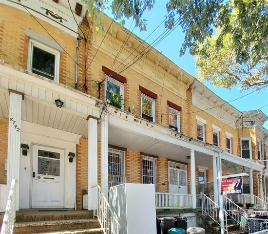 All brick spacious 2 family in the center of Woodhaven. One block from busy Jamaica Ave and J train. Fully finished basement.