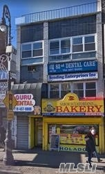 1 store on 1st floor, 2 offices and 2-two bedrooms 1 bathroom apartment. close to 7 train-82 st station