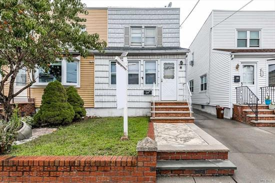 Get into NE Queens best school district at an affordable price! This 3 bedroom, 2 bath colonial is sturdy and ready for your creative updating to make it your own. 3 zone gas heat, great yard, great major components, only cosmetic needed- will not last! P.S. 159 & I.S. 025.