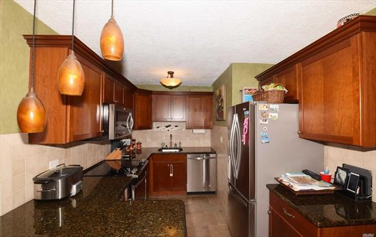 Move Right Into This Two Bedroom With Water-Views! New Stainless Steel Appliances Purchased In 2016 & Granite Countertops. Crown Molding In Dining Room, Hallway, & Master Bedroom. Solid Wood Doors Throughout. High End Bathroom Remodeled in 2016 With Top Of The Line Plumbing Fixtures. Parking Spot Available For Transfer Fee.