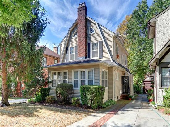 Traditional Dutch Colonial In Desirable Area w/ Lg Entry Foyer, Kitchen w/ Bright Breakfast Room, LR w/Fpl, FDR, Den, Pwder Rm, 3 Bedrms, Full Bth, Stairs to Attic, Slate Patio, 2 Car Garage, Long Private Driveway, Part Finished Full Basement w/Laundry, Close to Park, Library, Stores Schools & Transportation.