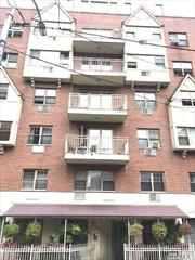 Sale may be subject to term & conditions of an offering plan. mint condition 4th floor unit with 2 bedrooms and 2 baths. great views from terrace. large rooms lots of closets very spacious unit. close to all one block to transportation.