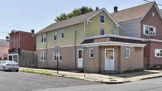 Located in desirable downtown East Bergen Point area, this corner lot 2 family features 2 garages and offers character and old world charm. This property is a great place to call home or the perfect investment opportunity. Call now...won't last! Bayonne is undergoing a tax re-evaluation in 2019.